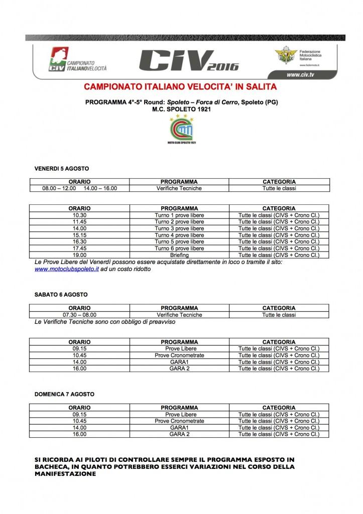 Programma civs Spoleto